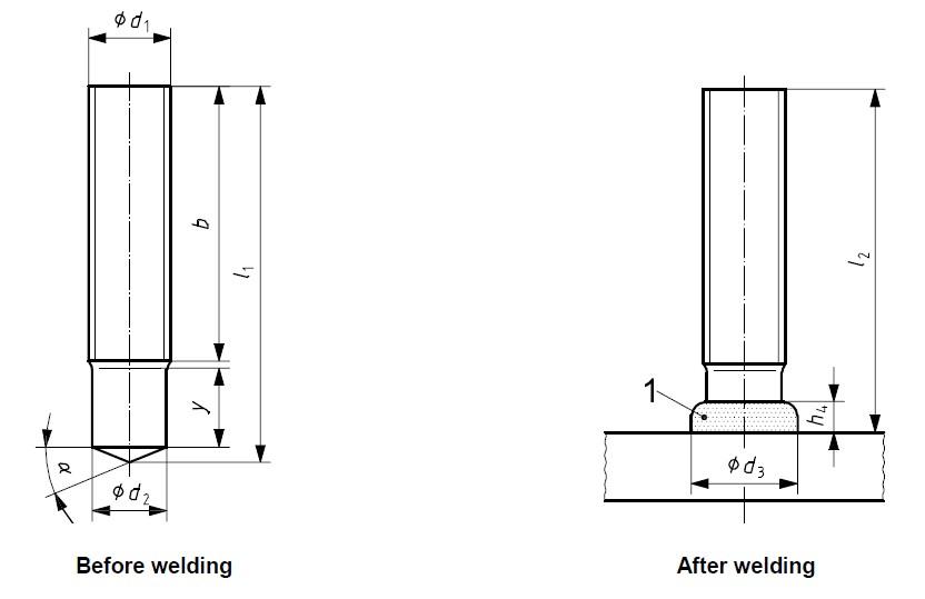 Threaded stud welding