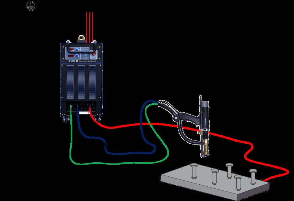 Inverter Drawn Arc Stud Welder Connection Sketch